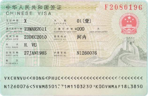 Cách làm visa du học Trung Quốc